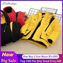 Russo casacos de inverno 2020 jaqueta de inverno para meninos quente para baixo algodão jaqueta com capuz casaco à prova dwaterproof água outerwear crianças parka longo casaco