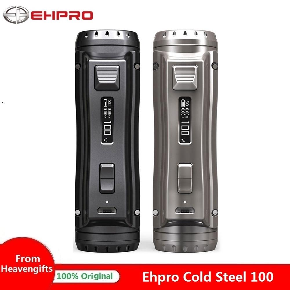 120W Ehpro acier froid 100 boîte MOD w/0.0018 S ultra-rapide vitesse de cuisson puissance de 18650/20700/21700 batterie vs glisser 2 Mod/Punk 86W