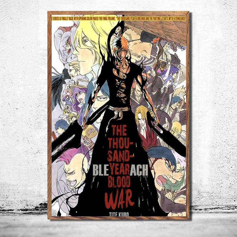 Poster Bleach Kurosaki ichigo Japan Anime Boy Room Wall Cloth Print 85
