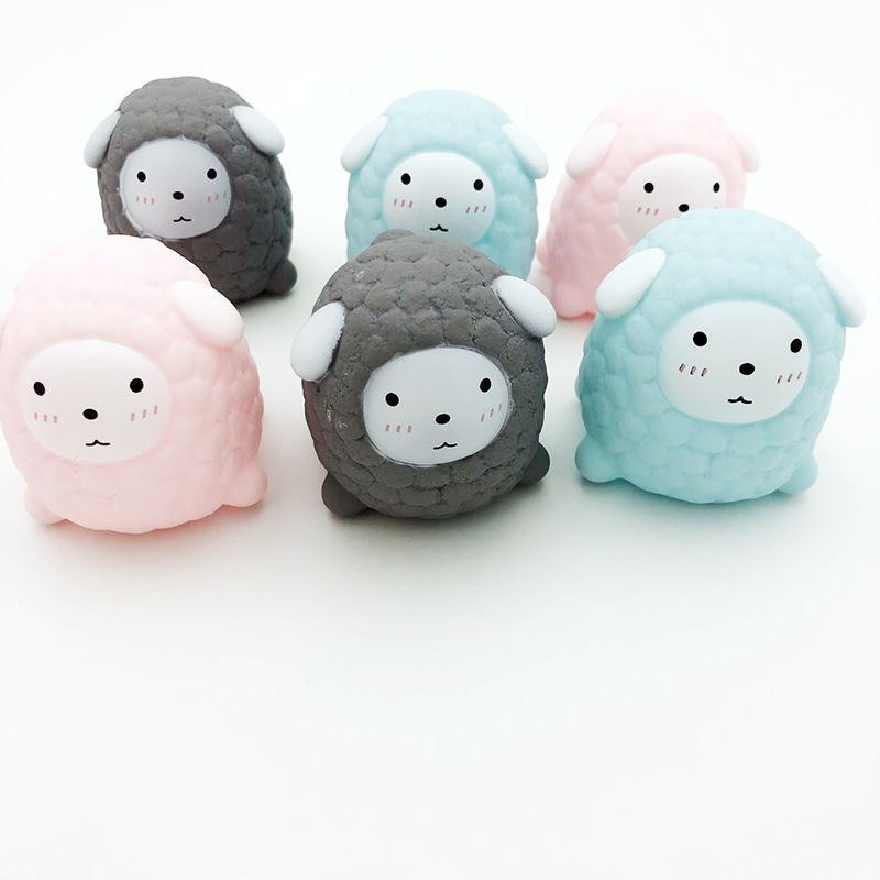 Vent Pressure Relief Toys Pink Lamb Toys Spoof Little Sheep Call Baby Bath Toys Cute Pink Sheep 2020 New Arrial Hot Sale enlarge