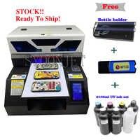 Impresora UV A4 automática completa con pantalla táctil y sistema de circulación de tinta blanca para caja de teléfono de pluma de botella, camiseta de madera acrílica