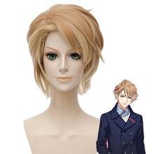 цена на New Hand Tour A3! Chigasaki Itaru Cosplay Wig Short Linen Heat Resistant Synthetic Hair Pelucas Party Unisex Anime Costume Wigs