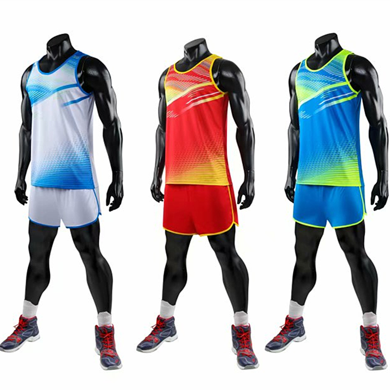Men Women And Kids Vest+Shorts Competition Running Sets Track And Field Sportswear Sprint Running Suit Marathon Clothes