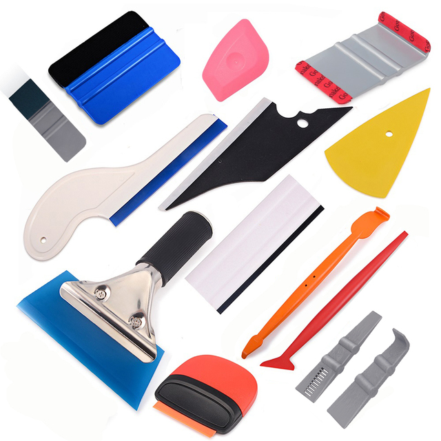 EHDIS Vinyl Auto Wrap Tools Kit Carbon Fiber Foil Film Decal Wrapping Scraper Remover Tool Window Tint Magnetic Stick Squeegee