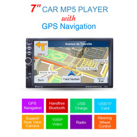 7021G 7-Inch 1080P HD Sentuh Layar Mobil MP5 Player Gps Navigasi Handsfree Bluetooth FM Radio Tuner AUX Input Audio