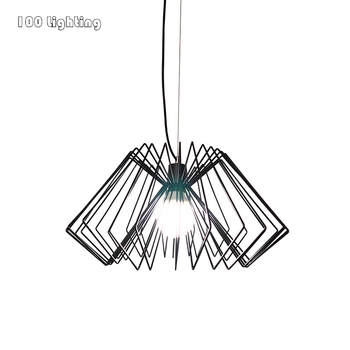 Minimalist Metal LED Pendant lights Cord Pendant Restaurant light Coffee shop Bedroom Pendant lamp E27 Nordic Hang Light Fixture