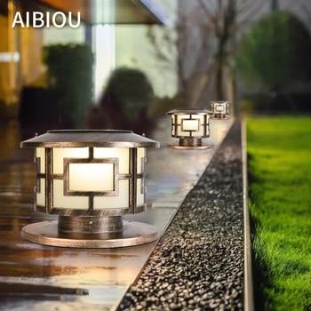Aibiou IP55 Waterproof Solar LED Landscape Lightings European LED Villa Home Garden Lamp Outdoor Home Lighting Fixtures