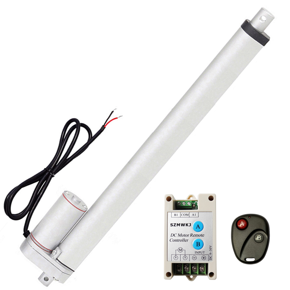 1500N Linear Actuator 12V Electric Motor 330Lbs Max  Auto Lift for Solar Tracker