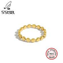 S'STEEL-Anillo De Plata De Ley 925 para Mujer, Sortijas De oro De diseño geométrico, Plata De Ley 925, joyería fina