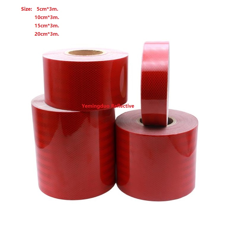 5 / 10 /15 / 20CM Super Strong Reflective Red Car Decoratiive Sticker Reflective Self-adhesive Tape Road Traffic Warning Sign