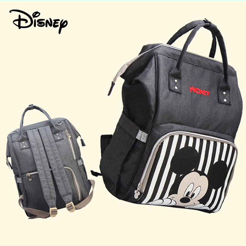 Disney Multiple Styles Baby Diaper Bag With Usb Interface Port Mummy Maternity Backpack Nappy Bag High Capacity New