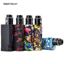 Vapor Storm ECO Pro RDA Starter Kit Electronic E Cigarette Vape 80W TC VW Box Mod Mechanical Lion RDA Atomizer Tank Vapor Vaper electronic cigarette jsld 150w adjustable vape mod box kit 2200mah 0 3ohm battery 3ml tank e cigarette big smoke vs jsld txw kit