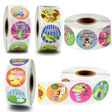 500pcs round 1 inch reward children inspirational stickers classroom decoration tags children's toys scrapbook