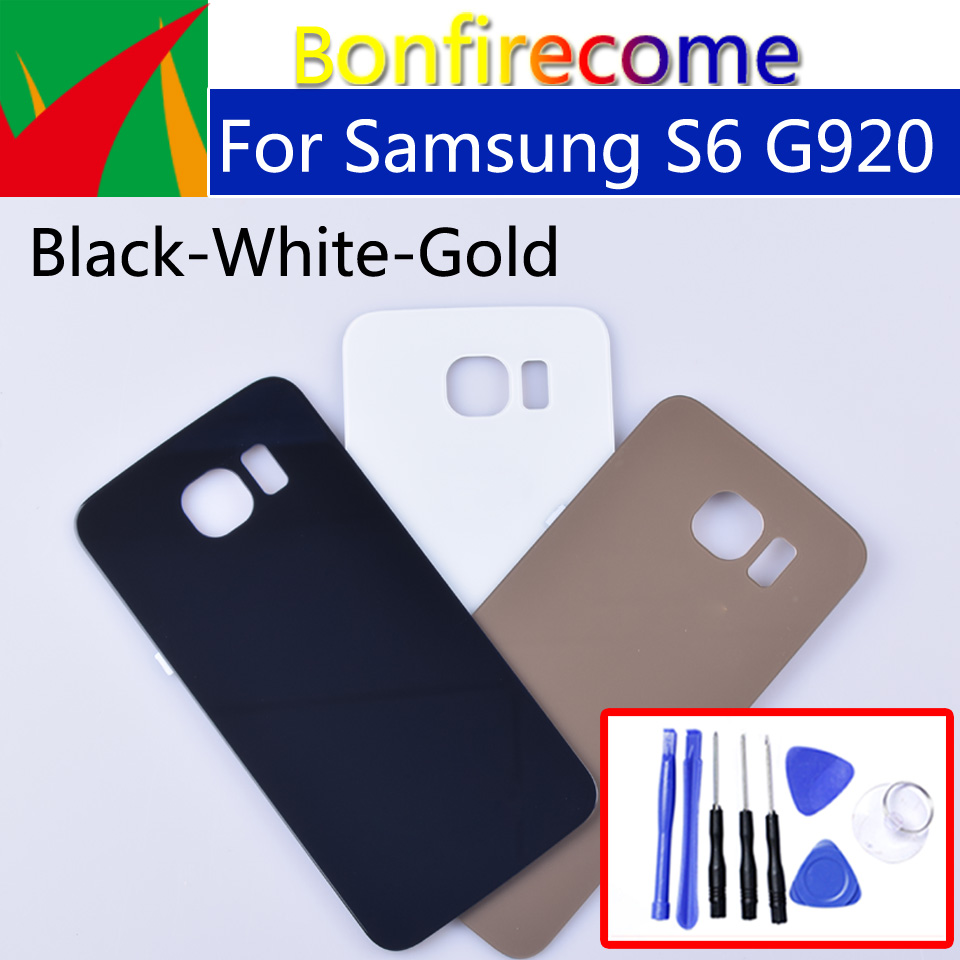 <font><b>S6</b></font> Battery Back Cover For <font><b>Samsung</b></font> <font><b>Galaxy</b></font> <font><b>S6</b></font> G920 G920F G920A G920FD G920I Rear Housing Battery Door Case <font><b>Replacement</b></font> Parts image