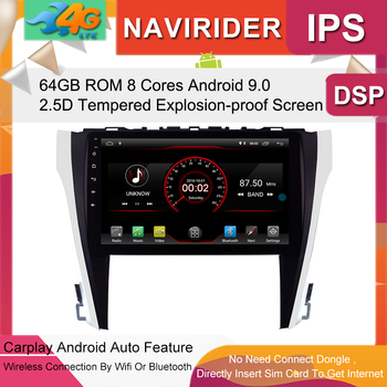 Built in 4G Lte car Intelligent navigation tape recorder 9.0 android car gps radio multimedia player for toyota Camry 2015 2017