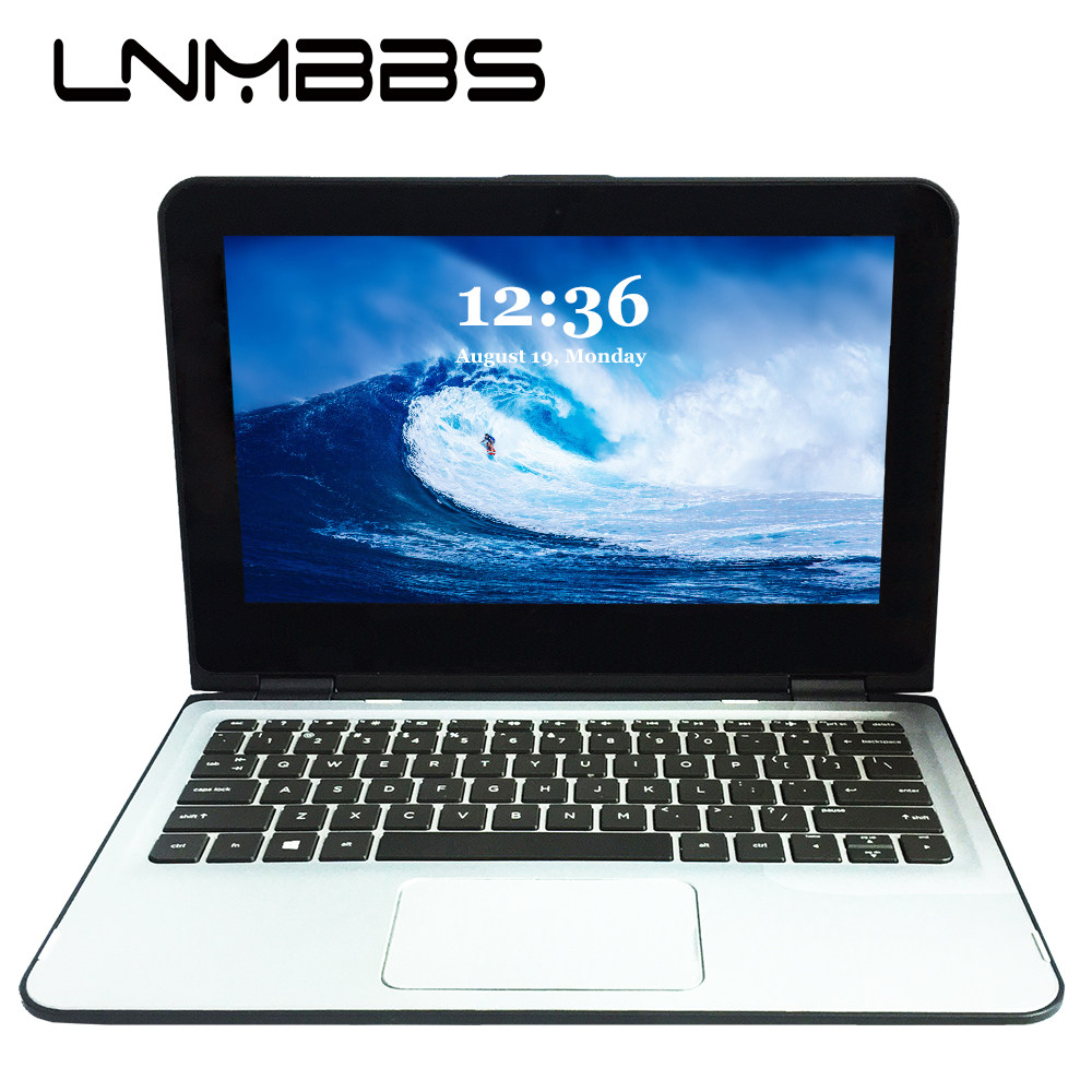 LNMBBS X36 11.6inch Laptop Window 10 Notebook RAM 8GB 256GB SSD 1366*768 Ips N3700 Wifi HDMI Camera Touch Screen Office Computer