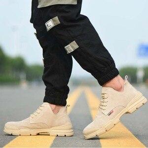 Image 5 - 2019 אופנה גבר נעלי בטיחות הבוהן פלדה קיץ לנשימה קל לרסק הוכחת דקירה בטוח רתך עבודה בטיחות אתחול עבודה נעליים