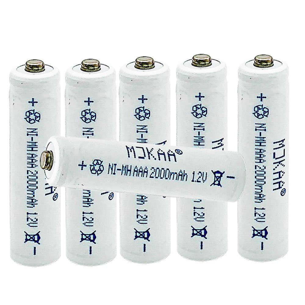 10 قطعة MJKAA ni-mh 2000mAh بطارية 1.2 فولت AAA بطاريات قابلة للشحن لعبة كاميرا محايدة