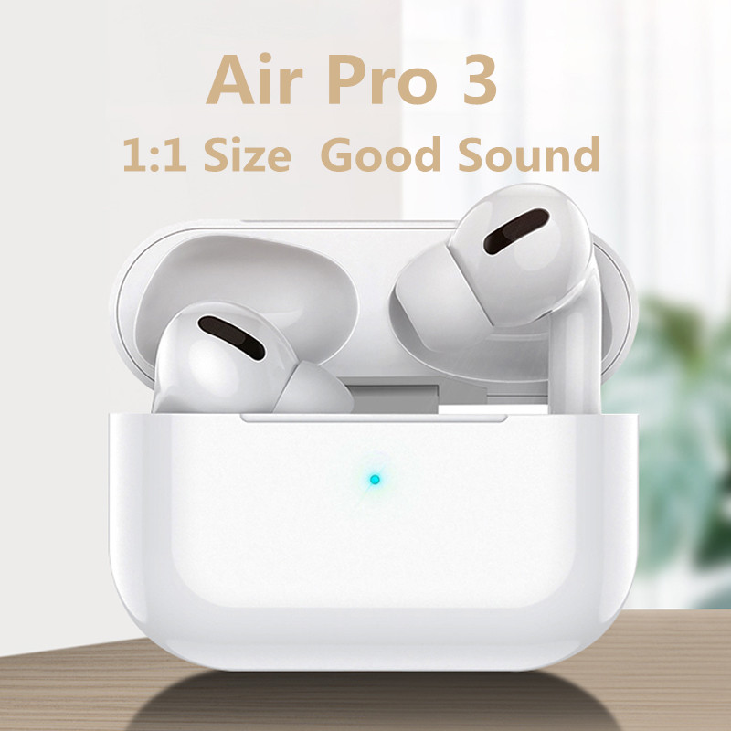 Wangsenna Original Air Pro 3 TWS 1:1 Clone Airpodering Bluetooth Earphone Wireless Headphones Earbuds Stereo Headset PK  Pro 2