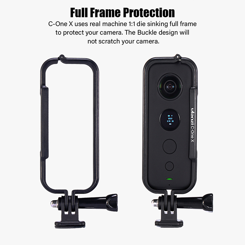 Image 2 - Ulanzi Plastic Protective Case Frame for Insta 360 One X Housing Cage with Camera Lens Cap Action Camera Adapter Kit-in Sports Camcorder Cases from Consumer Electronics
