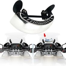 Motocicletas lente larga vista traseira 180 graus de segurança espelhos retrovisores para bmw r1200gs r 1200 r1200 gs 1200 gs1200 lc aventura adv