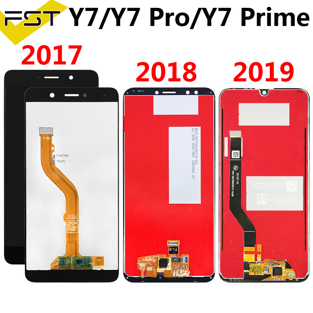 For HUAWEI Y7/Y7 Pro/Y7 Prime LCD Display Touch Screen Digitizer For Huawei Y7 Prime LCD With Touch 2017 2018 2019