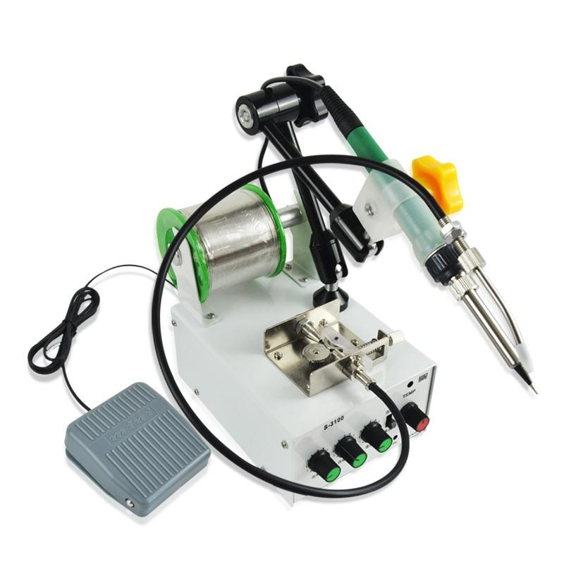 Tools : 220V 60W Automatically Soldering Machine Internal Heating Iron Foot Gun Send Tin  Spot Welding Repair Tool