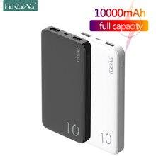 Chargeur portatif externe de batterie de chargeur d'usb de la batterie 10000 mAh PowerBank 10000 mAh de puissance chargeant pour Xiaomi Mi 10 9