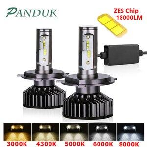 Image 1 - PANDUK H7 LED H4 ZES 18000LM Canbus H11 H8 H1 HB3 9005 9006 LED HB3 LED lampadina faro Led luci per auto 80W 6000K 8000K 12V