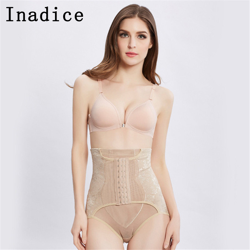 Inadice Briefs Slimming Pants Sexy Thong Buckle High Quality Corset Belt 2019 High Waist Tummy Control Body Shaper For Women