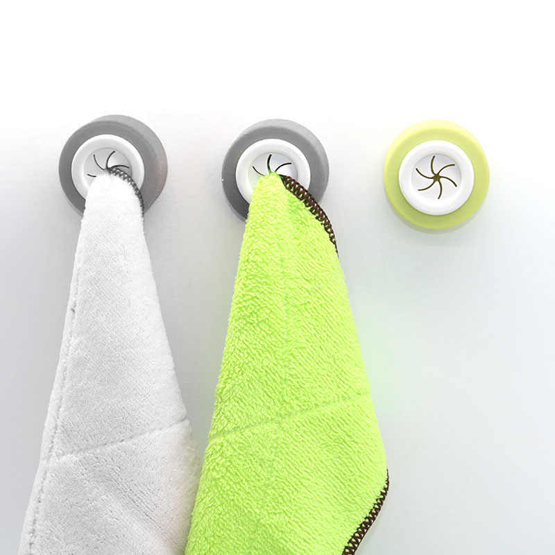 Wall Shelf Wash Cloth Clip Round Holder Clip Dishclout Storage Rack Bath Room Storage Hand Towel Rack Bathroom Kitchen Supplies