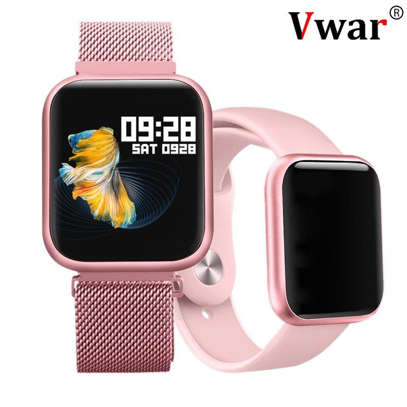 Vwar P80 écran tactile complet IP68 étanche montre intelligente pour iPhone Xiaomi Apple téléphone surveillance de la fréquence cardiaque femmes hommes Smartwatch