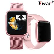 Vwar P80 Full Touch Screen IP68 Waterproof Smart Watch for iPhone Xiaomi Apple P