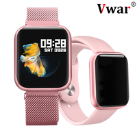 Vwar P80 Full Touch Screen IP68 Waterproof Smart Watch for iPhone Xiaomi Apple Phone Heart Rate Monitoring Women Men Smartwatch