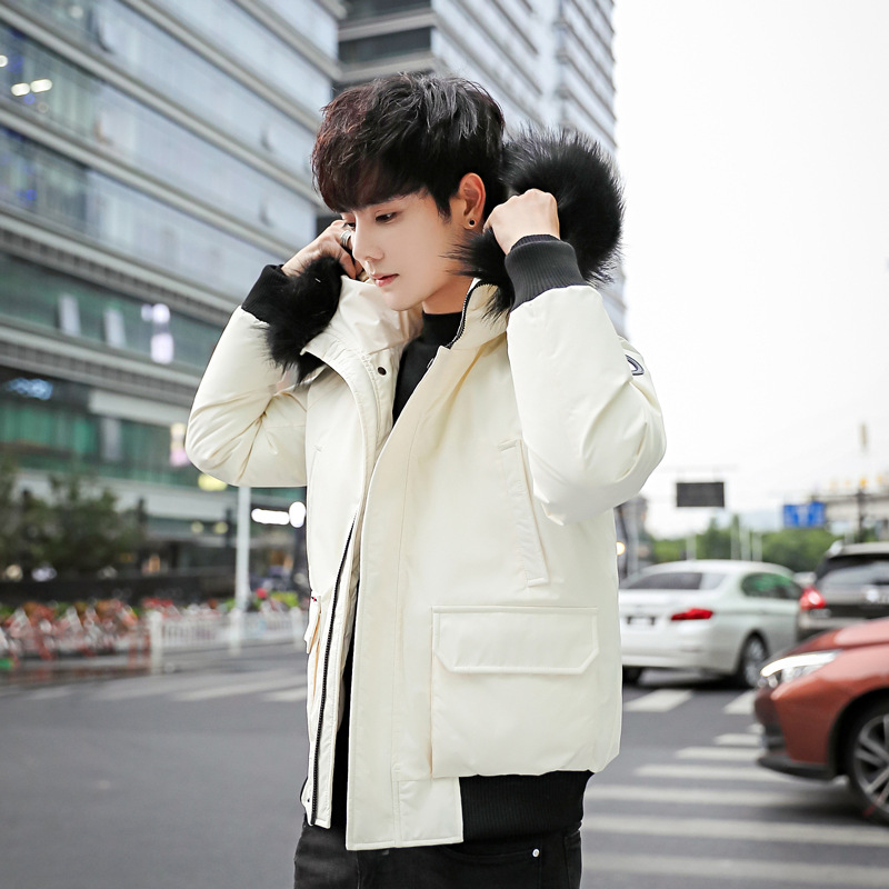 2018 New Style Youth Couples Short Cotton-padded Clothes Men's Fashion Cotton-padded Jacket Men's Thick Korean-style Down Jacket