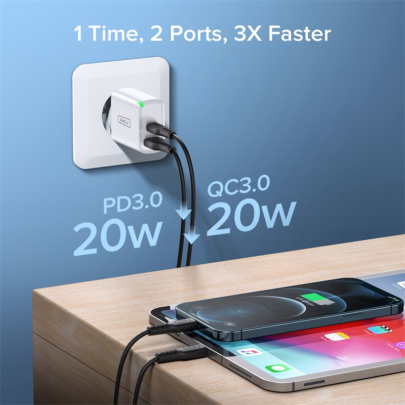 INIU PD 20W USB Type C Charger EU Adapter Fast Phone Charge For iPhone 12 11 X Xs Xr Pro Max 6 7 8 iPad Huawei Xiaomi LG Samsung 2