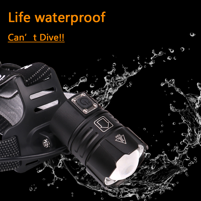 Image 2 - Z40Super Bright XHP90 USB Rechargeable Led Headlamp XHP70 Most Powerfull Headlight Fishing Camping ZOOM Torch by 3*18650 batteryHeadlamps   -