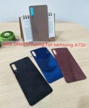Cubierta trasera de cristal para Samsung Galaxy A7(2018) A750, cubierta trasera para puerta de batería, cubierta trasera de batería