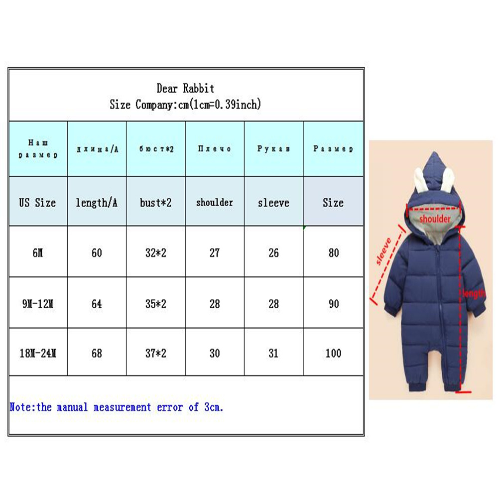 Baby boy girl Clothes 2019 New born Winter Hooded Rompers Thick Cotton Outfit Newborn Jumpsuit Children Baby boy girl Clothes 2019 New born Winter Hooded Rompers Thick Cotton Outfit Newborn Jumpsuit Children Costume toddler romper