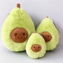 15-60CM Creative Fruit Cute Avocado Pillow Plush Toy Cartoon Grab Machine Doll Plush Beige Big Doll Christmas Gift Kawaii