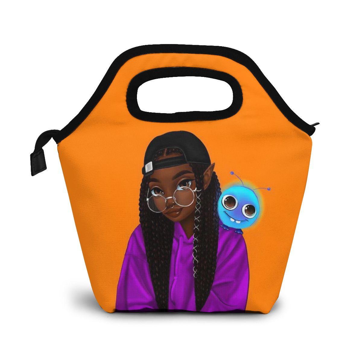 Noisydesigns Refrigerador Lancheira Bolsa África Arte Menina Pintura Portátil Piquenique Comida Tote Mais Novo Feminino Personalizado