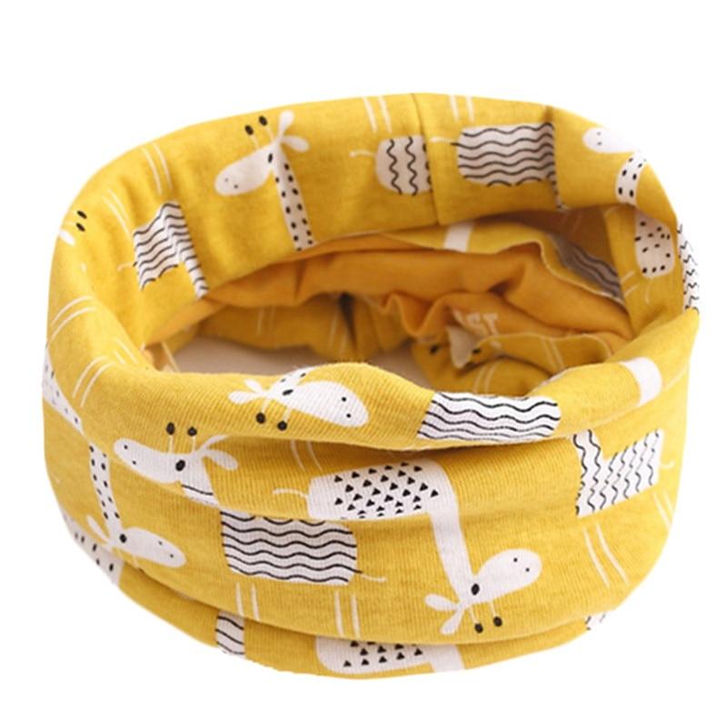 Весенне-осенне-зимний детский хлопковый шарф для От 0 до 10 лет, Детские шарфы с героями мультфильмов, модный теплый воротник - Цвет: 16