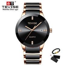 New TEVISE Ceramic Watch Man Luxury Men's
