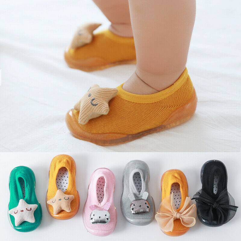 Baby Girl Toddler Shoes Socks Nonslip Floor Socks Shoes Baby Cartoon Doll Soft Rubber Sole Shoes Baby Boy Shoes Socks