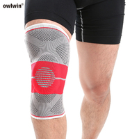 2019 braided silicone red black warm knee pads sports protective gear Pads Knee Support Brace Safety Guard Strap for Basketball