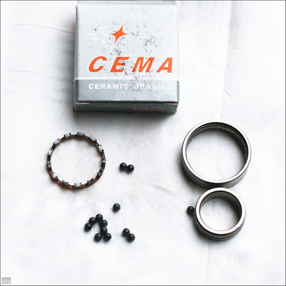 CEMA Roulement En Céramique pour vélo moyeu de roue 6000/6001/6800/6801/6802/6803/6804/6805/6806/6900/6902/6903/15267/15268