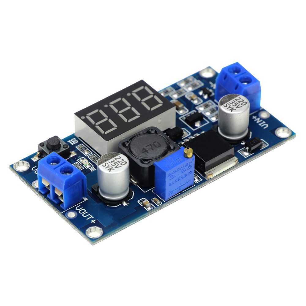 LM2596 LCD LM2596 LED電圧計ADJ DC-DC降圧調整可能電源モジュール、arduino Diyキット用デジタルディスプレイ付き