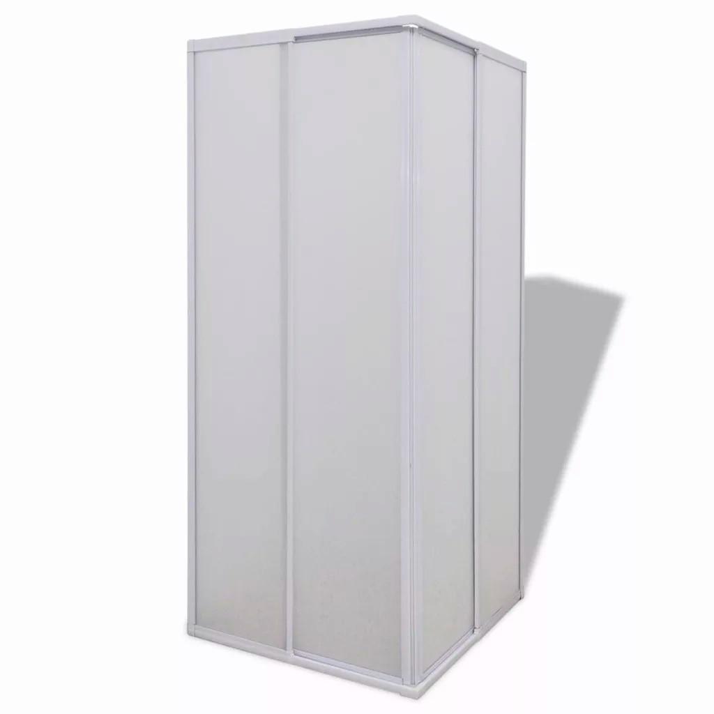 VidaXL paroi pare-baignoire douche 2 panneaux fixes et 2 portes coulissantes pliable cadre aluminium pare-baignoire 80X80 Cm pour salle de bain - 2