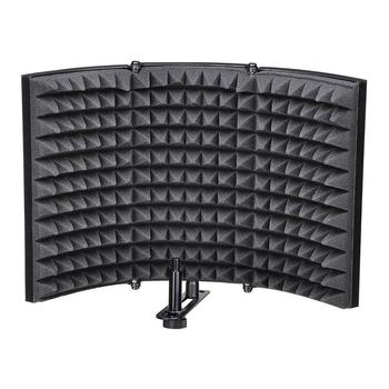 ABSF يطوي ميكروفون ستوديو عزل درع تسجيل صوت ممتص لوح إسفنجي