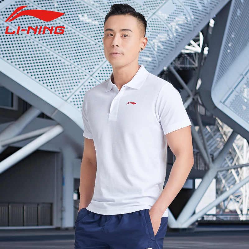 Li-Ning Mannen Polo Shirt Op Droog Smart Fitness Mannelijke Running Outdoor Sport Jogging Voering Li Ning Sport T-shirts APLN399